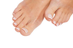 French pedicure Stock Photos