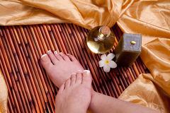 French Pedicure Royalty Free Stock Images