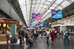 Shop inside of Gare de Paris-Est station in Paris, France Stock Photography