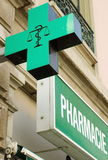 French pharmacy sign Stock Image