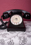 French Phone. 1950s French bakelite telephone with French text Royalty Free Stock Image