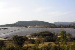 French photovoltaic solar plant Royalty Free Stock Photo