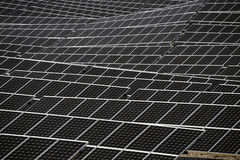 French photovoltaic solar plant Royalty Free Stock Image