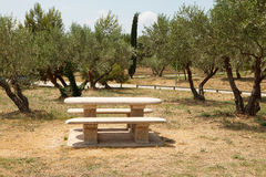 French picnic table Stock Image
