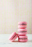 French pink macarons Royalty Free Stock Photos