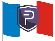French Pivians supporting Pivx royalty free stock photography