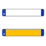 French plate number, Europe royalty free illustration