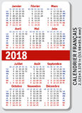French pocket calendar for 2018 Stock Photo