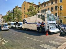 French Police Anti-Riot Vehicle Royalty Free Stock Images