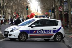 French police car stock photo