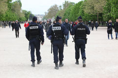 French police control the street Stock Photos