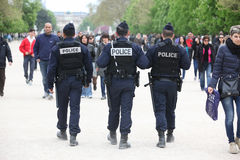 French police control the street for nice rest. For lacals and tourist, Paris the 27 april 2013, France royalty free stock photography