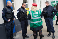 French police at COP21 UN climate conference Royalty Free Stock Photos