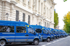 French Police Gendarmerie Vans Editorial Stock Photos