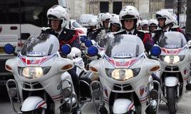 French police motorcade Stock Photo