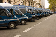 French Police Vans Stock Photo