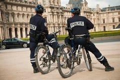 French policemen in bike Stock Image