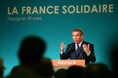 French politician Francois Bayrou Royalty Free Stock Photo