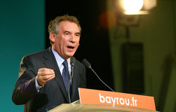French politician Francois Bayrou Stock Photos