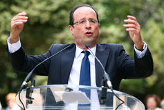French politician Francois Hollande Royalty Free Stock Photos