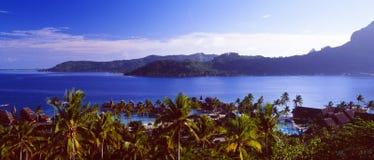 French Polynesia: Bora Bora Lagoon Resort royalty free stock photography