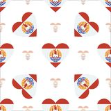 French Polynesia flag patriotic seamless pattern. Royalty Free Stock Photo