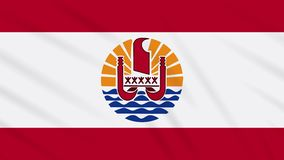 French Polynesia flag waving cloth background loop. French Polynesia flag waving cloth, ideal for background, loop stock video