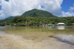French Polynesia Huahine island Maeva village Stock Photos