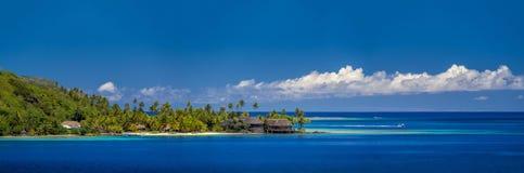 French Polynesia. The lagoon at Bora Bora French Polynesia Stock Photo
