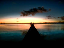 French Polynesia sunset Stock Image
