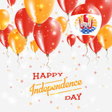 French Polynesia Vector Patriotic Poster. Independence Day Placard with Bright Colorful Balloons of Country National Colors. French Polynesia Independence Day Royalty Free Stock Photo