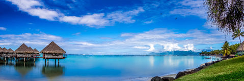 French Polynesia. A view from a Tahiti beach Stock Image