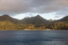 French Polynesian Island of Huahine Stock Photos