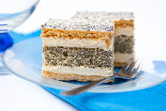 French Poppy Seed Cake Royalty Free Stock Photos