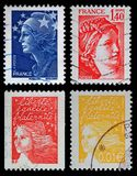 French Postage Stamps. Modern Postage Stamps from FRance royalty free stock image