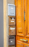 French postal boxes Royalty Free Stock Image