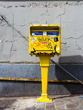 French postbox covered in Graffiti Royalty Free Stock Photography