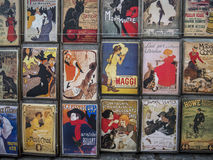 French Posters. Famous French posters in a shop in Montmartre, Paris Royalty Free Stock Photo