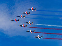 French power. Patrouille de France in Zeltweg Airpower 2016 Royalty Free Stock Image