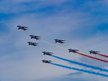 French power. Patrouille de France in Zeltweg Airpower 2016 Stock Image