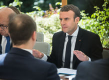 French President Emmanuel Macron Stock Images