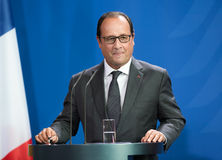 French President Francois Hollande Royalty Free Stock Photo
