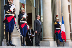 French President Francois Hollande Stock Photography