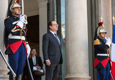 French President Francois Hollande Stock Photos