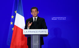 French president Nicolas Sarkozy Royalty Free Stock Image
