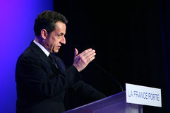 French president Nicolas Sarkozy Royalty Free Stock Photos