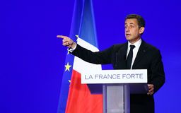 French president Nicolas Sarkozy Stock Images