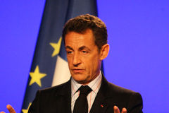 French President's Nicolas Sarkozy Royalty Free Stock Photography