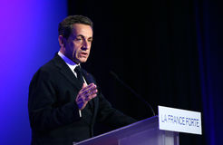 French president's Nicolas Sarkozy Royalty Free Stock Images