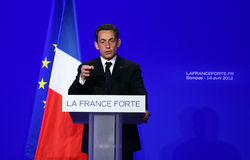 French president's Nicolas Sarkozy Royalty Free Stock Photo